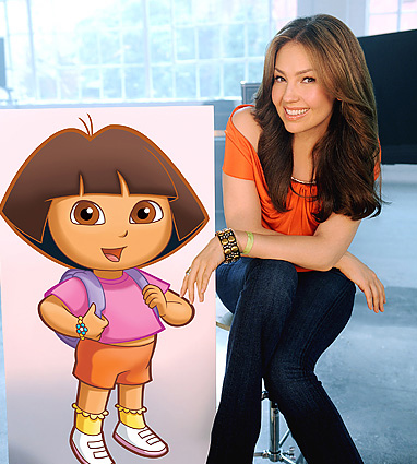 Thalia on the Set of the Dora La Exploradora [HQ]