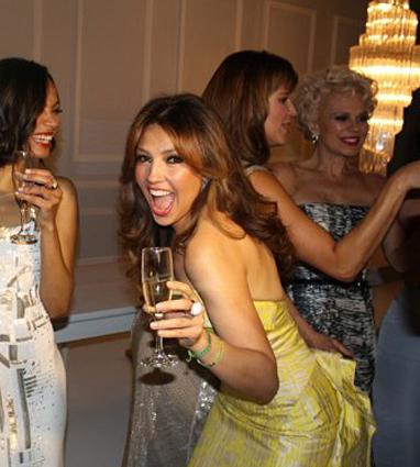 """Thalia on the Set of the """"50 Mas Bellos 2012"""""""