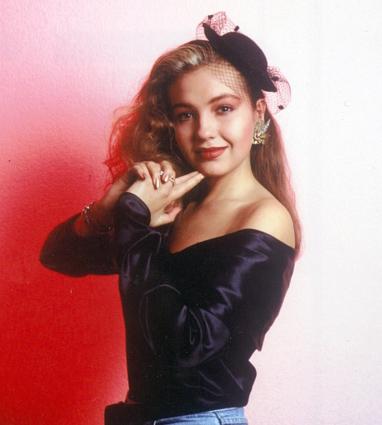 Fotos de Thalía de 1989