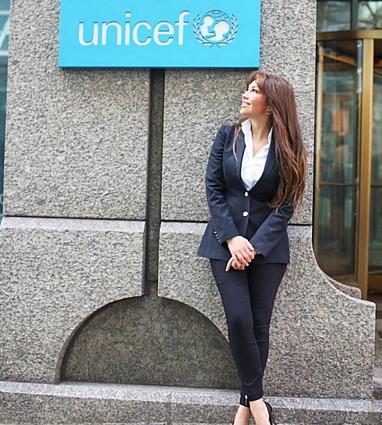 Thalía hace una visita a UNICEF